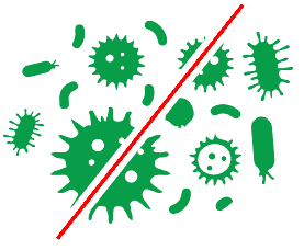An image of the microbes and pests being prevented by using MustGrow products