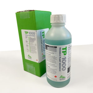 A 500mL container of one of MustGrow's products — the TP 1000.