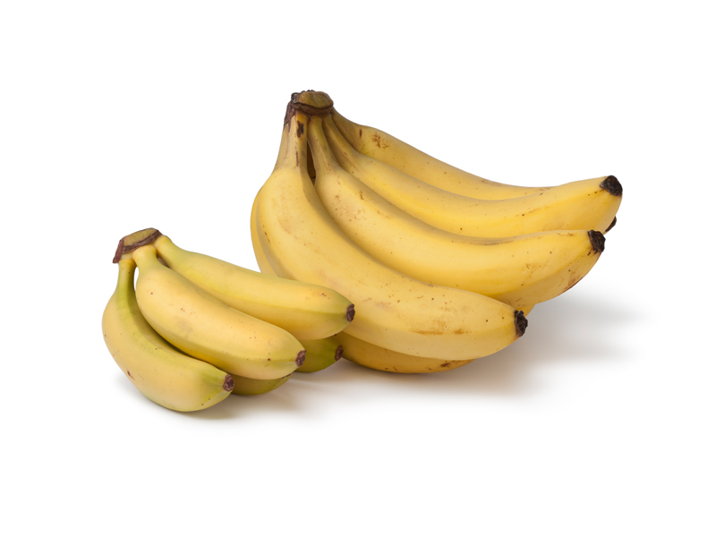 Two bundles of bananas show MustGrow products potential for growth.